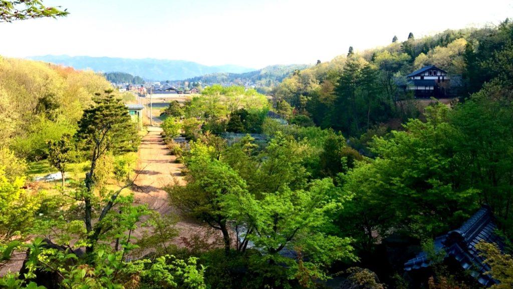 敷地内高台からの景色